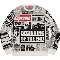 1 WEEK Supreme FW 18 Newsprint Sweater
