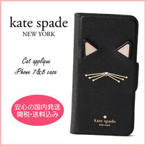 【国内発送】CAT APPLIQUE IPHONE 7 & 8 FOLIO CASE セール