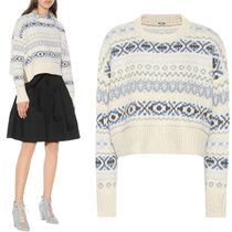 MM607 FAIR ISLE CROPPED SWEATER