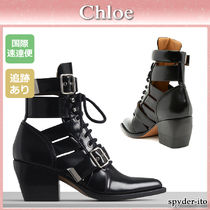 19AW★送料込【Chloe】RYLEE バックル付き レースアップブーツ