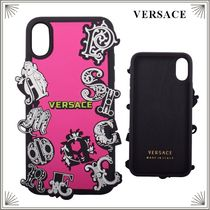 VERSACE*ロゴ iPhone Xケース*ピンク