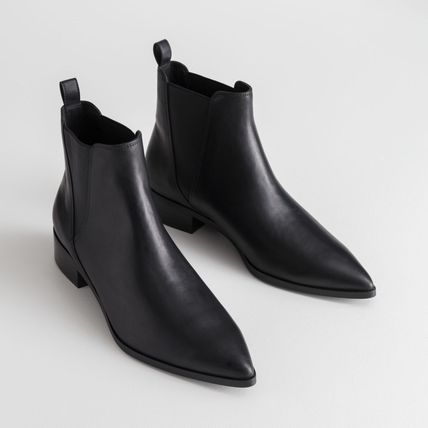 ★&Other Stories★Leather Chelsea Boots★ブラック★