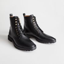 ★&Other Stories★Lace-Up Leather Boots★ブラック★