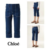 【Chloe】Mid-rise cropped jeans