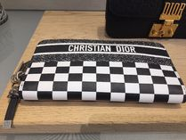 DIOR◆BLACK &  WHITE ZIP WALLET ◆