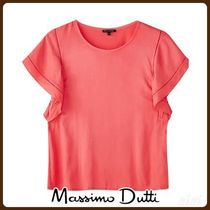 MassimoDutti♪T-SHIRT WITH CONTRASTING LACE TRIMS