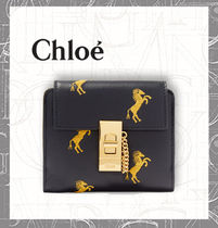【CHLOE】 Drew embroidered leather wallet