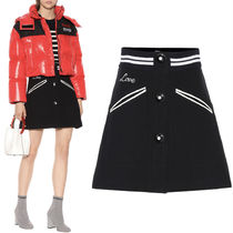MM611 WOOL MINI SKIRT