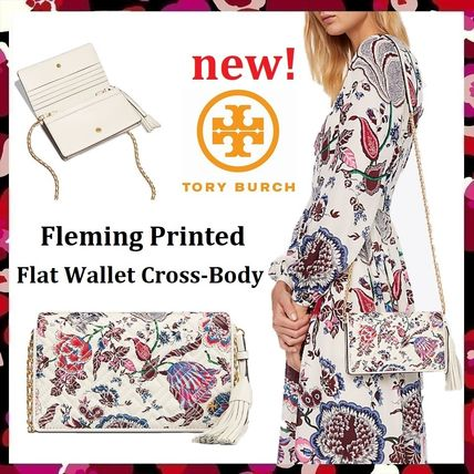 Tory Burch ショルダーバッグ・ポシェット 新作 Tory Burch Fleming Printed Flat Wallet Cross Body
