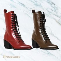 【Chloe】Point Toe Boot ポイントトゥブーツ Red & Brown