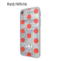 adidas iPhone8 ケース OR 70'S Clear Case Red / White