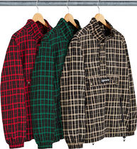 Week1新作!SUPREME18FW★Nylon Plaid Pullover