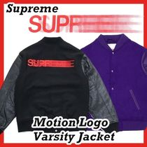 Supreme  Motion Logo Varsity Jacket 18 FW  WEEK 0