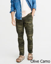 即発可お買い得!アバクロAthleticSlimCargoPants/OliveGreenCamo