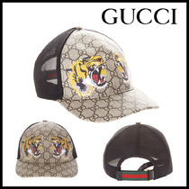 【国内発送/関税込】GUCCI★TIGER COATED GG BASEBALL HAT