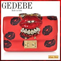 GEDEBE(ゲデべ) クラッチバッグ ★GEDEBE★ RED Cliky リップス チェーン付きクラッチバッグ