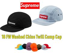 Supreme  Washed Chino Twill Camp Cap 18 FW  WEEK 0