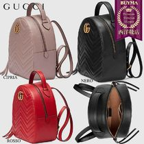【正規品保証】GUCCI★18秋冬★QUILTED LEATHER BACKPACK_NERO