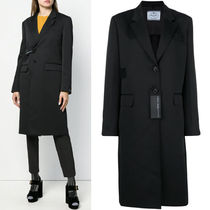 PR1219 TECHNICAL FABRIC SINGLE BREASTED COAT WITH TAB