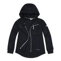 THE NORTH FACE W'S SOLID TOBIN ZIP-UP ジャケット NJ5JI87 BLK