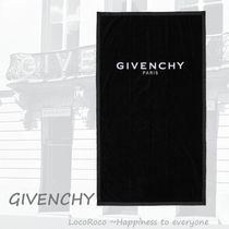 ★GIVENCHY★Black logo-embroidered ビーチタオル