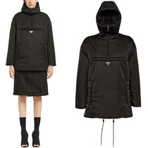 PR1223 HOODED PUFFER JACKET IN NYLON GABARDINE