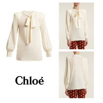 【Chloe】Tie-neck wool sweater