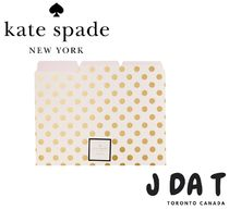 Kate Spade(ケイトスペード) GOLD DOT FILE FOLDERS - SET OF 6