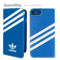 adidas originals iPhone8/8Plus/7/7Plus ケース 手帳型 ブルー