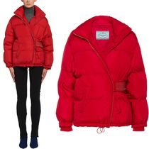 PR1234 OVERSIZED DOWN JACKET WITH VELCRO STRAP