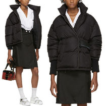 PR1235 OVERSIZED DOWN JACKET WITH VELCRO STRAP