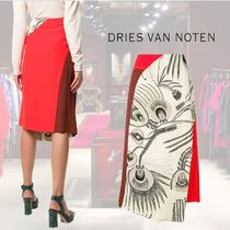【18AW】★Dries Van Noten★paneled patched skirt