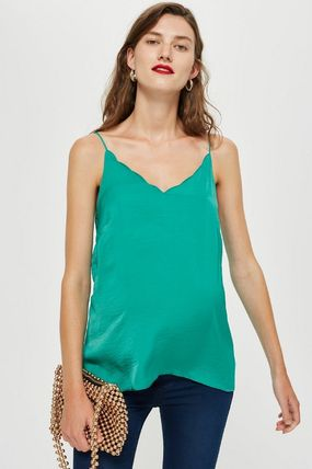 TOPSHOP マタニティトップス 【国内発送・関税込】TOPSHOP★Satin Scallop Cami Top(6)