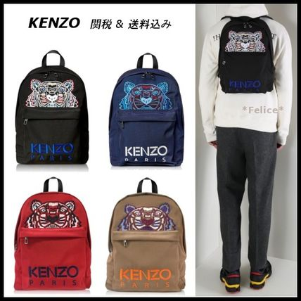 【KENZO】Large Tiger Canvas backpack 関税/送料込