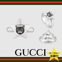 ★追跡有【GUCCI】Blind for Love ring in silver★ネコデザイン