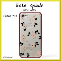 【kate spade】  最新作!! jeweled camellia iphone 7 & 8 case