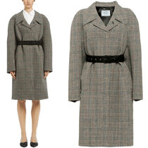 PR1243 CHECKED WOOL COAT
