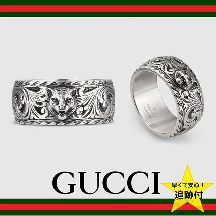 82b9989441 ★追跡有【GUCCI】Thin silver ring with feline head★