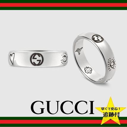 "★追跡有【GUCCI】""Blind For Love"" ring in silver★"