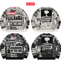 【AW18】Supreme (シュプリーム) NEWSPRINT SWEATER /2色