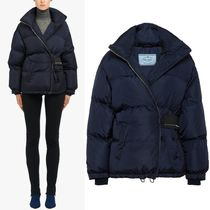 PR1247 OVERSIZED DOWN JACKET WITH VELCRO STRAP