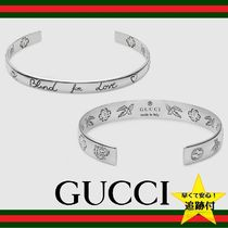 "★追跡有【GUCCI】""Blind For Love"" bracelet in silver★6mm"