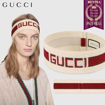 【正規品保証】GUCCI★18秋冬★ELASTIC GUCCI STRIPE HEADBAND