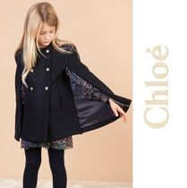 Chloeパリ発★Navy Blue Wool Cape  (6-12Y) 2018AW