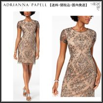 【海外限定】AdriannaPapellドレス☆Damask Sequined Mesh Dress