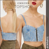 【国内発送・関税込】TOPSHOP★Star Studded Denim Bralet