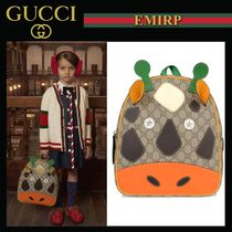GUCCI 大人もOK☆COWデザインGG Supremeバックパック