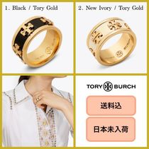 ■日本未入荷・送料込■ Tory Burch ENAMELED RAISED-Logo Ring