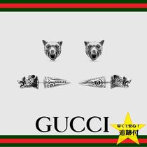 ★追跡有【GUCCI】Anger Forest wolf head earrings in silver★