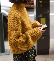 """""""& Other Stories"""" Oversized Chunky Knit Sweater Mustard"""